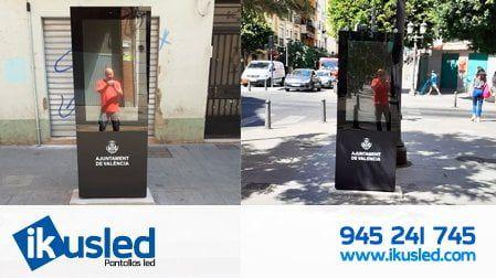 Kioscos digitales informativos de 43″ pulgadas con sonómetro ayuntamiento de Valencia