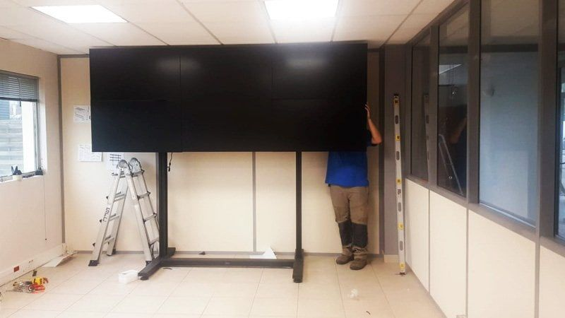 estructura video wall